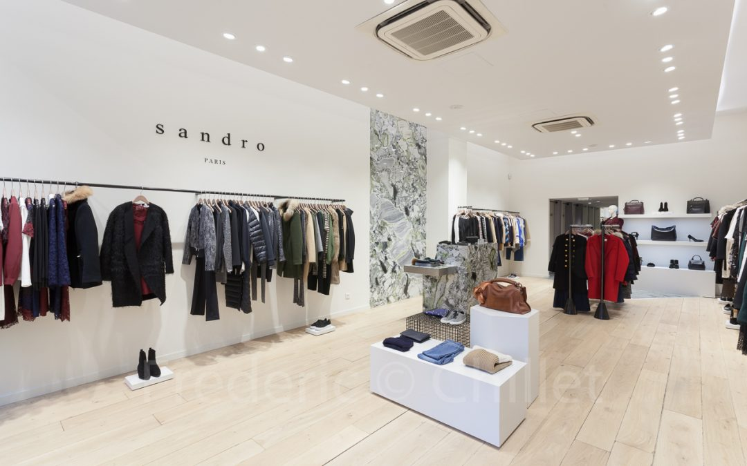 relooking magasin sandro