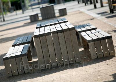 mobilier urbain place mérieux à Lyon